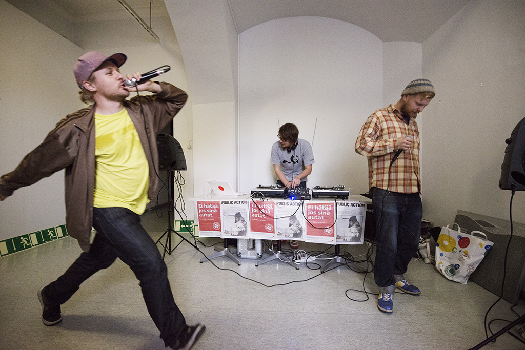 Public Action No.1. Launching Party At Lapinlahti Hospital, Photography by Kai Kuusisto.